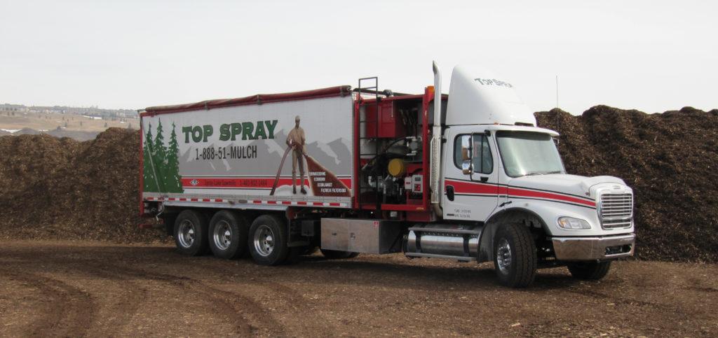 Top Spray Blower Truck